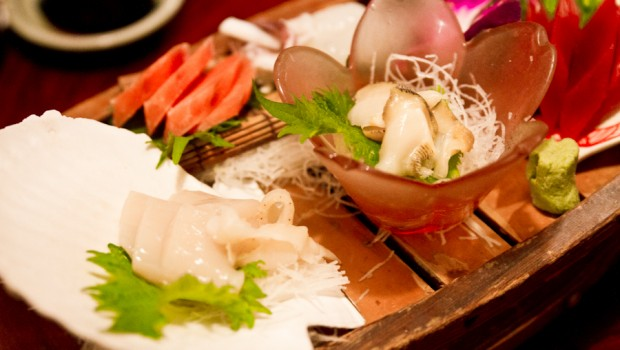 Isokin`s fresh sashimi plate with a variety of delectable daily catches