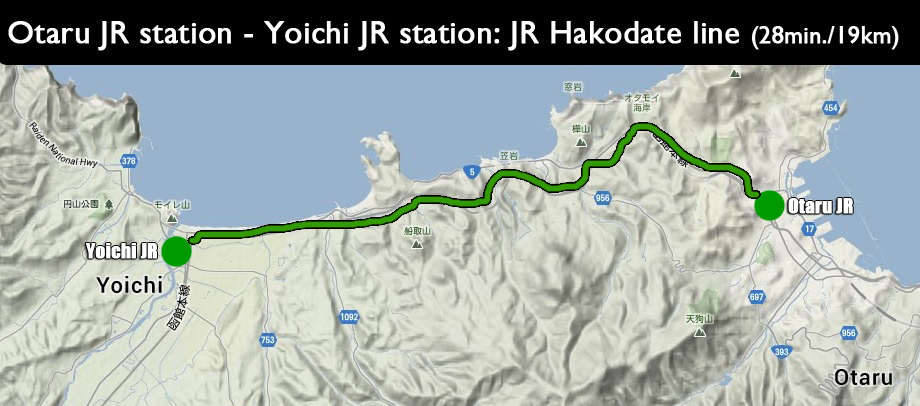 otaru-yoichi-japan-terrain-map-JR-Hakodate-directions