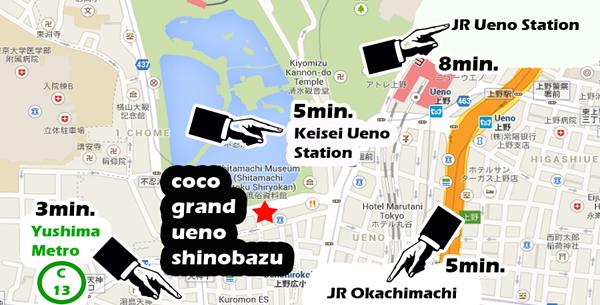 tokyo-shortstay-hotels-coco-grand-ueno-shinobazu-map