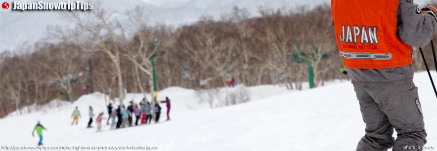 JapanSnowtripTips-Teine-Highland-Skiing-Snowboarding-Sapporo-Hokkaido-Japan-banner-on-piste