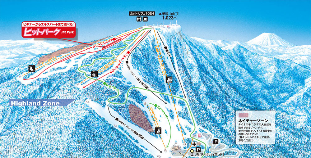 Teine-Highland-ski-trail-map